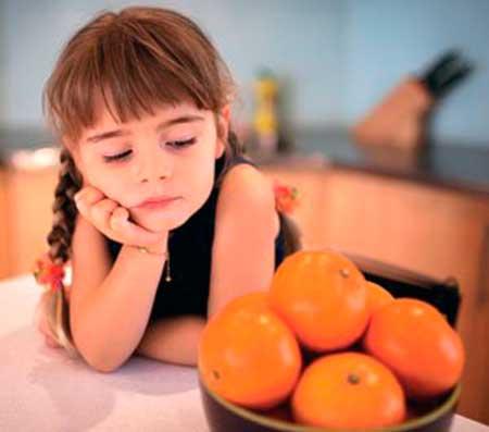 аллергия на цитрус у ребенка