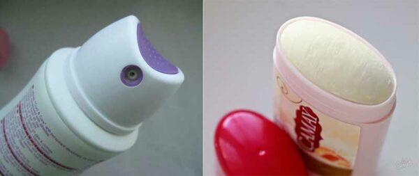 форма дезодорантов