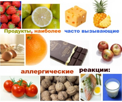 продукты, провоцирующие аллергические реакции