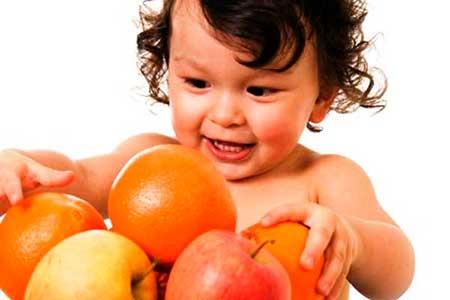Дети и мандарины